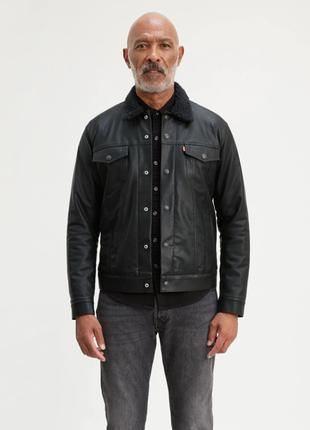 Мужская куртка Levis Faux Leather Sherpa Trucker Jacket (кож-зам,