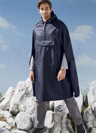 Компактный мужской плащ дождевик crivit, германия one size s-xl
