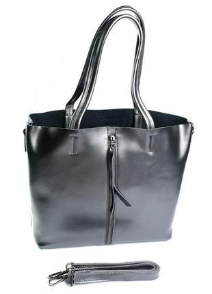 Женская кожаная сумка. жіноча шкіряна а4 шопер