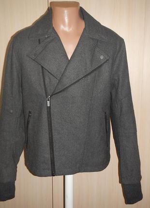 Твидовая куртка косуха h&m p.52