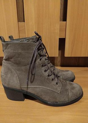Германия оригинал женские демисезонние замшевие ботинки большо...