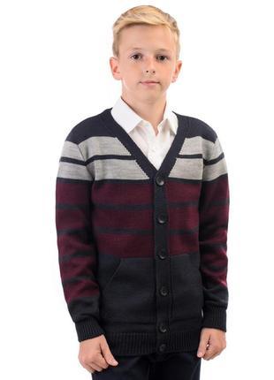 Новая  шерстяная кофта на мальчика в школу