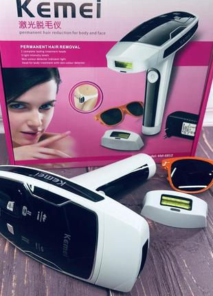 Домашний лазерный эпилятор kemei km 6812 фотоэпилятор для всег...