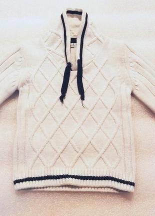 Теплый свитер на девочку 7-8 лет