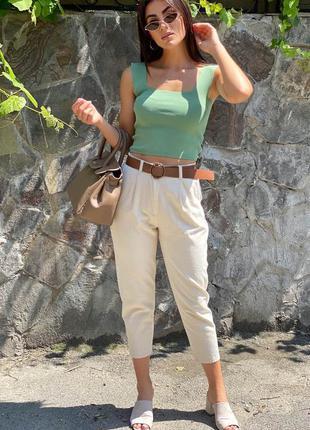 Короткие джинсы с поясом