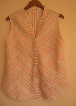 Натуральная блуза рубашка -100% лен