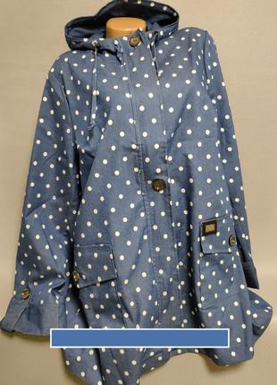 Джинсовая женская куртка , больших размеров.