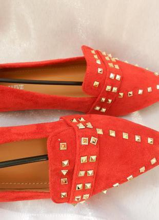 ✅топ балетки туфли мюли лоферы эко замши с металлическими закл...