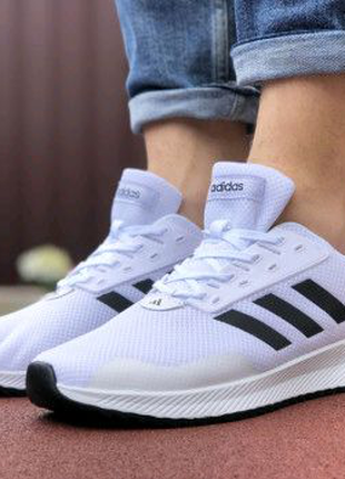 Мужские кроссовки Adidas белые 9415