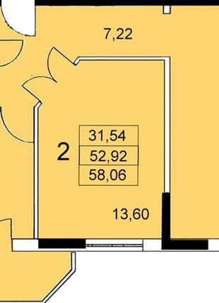 Предлагается к продаже 2-комнатная квартира