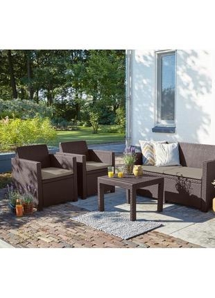 Комплект садовой мебели Allibert Alabama Lounge Set