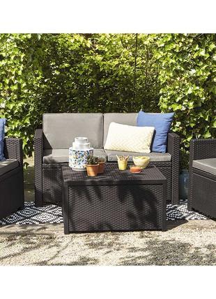 Комплект садовой мебели Allibert Monaco Set With Storage Table