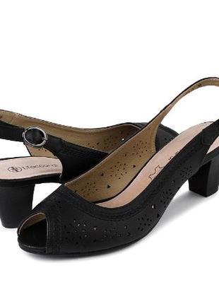 Туфли с открытым носком и пяткой или босоножки черные t.taccar...