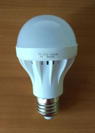 LED лампочка 7w 3500K теплый белый