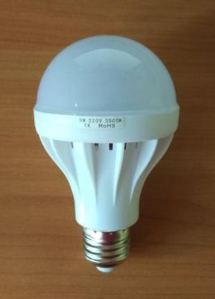 LED лампочка 9w 3500K теплый белый