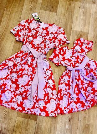 Легкие платья Мама и дочка