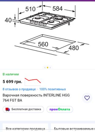 Продам варочная поверхность Interline как новая