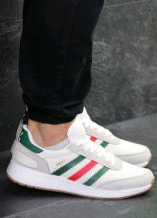 Мужские кроссовки белые Adidas Iniki 7749