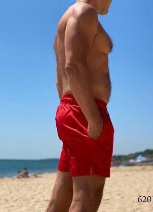 Мужские пляжные короткие шорты плавательные красные ferrari