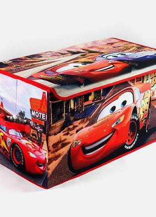 Коробка ящик для хранения игрушек и детских вещей Тачки SKL18-254