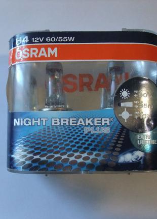 Галогенные лампы Osram night breaker plus H4