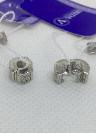 Новые серебряные стопоры фиксаторы для браслетов серебро 925 п...