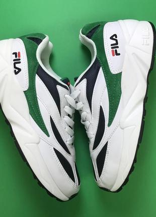 🌹новинка🌹  женские кожаные кроссовки фила fila venom white green