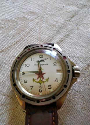 Мужские наручные командирские часы Морская авиация времён СССР