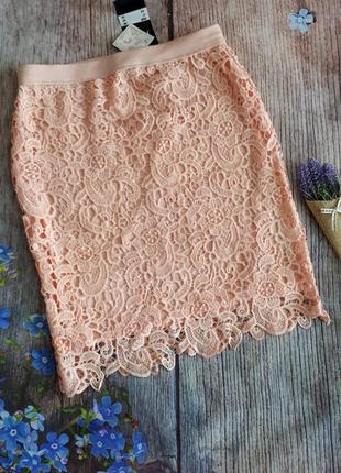 Гипюровая юбка  карандаш