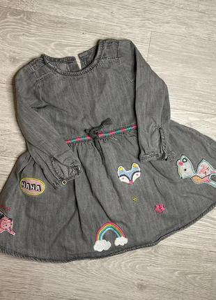 Платье джинсовое 12/18 next