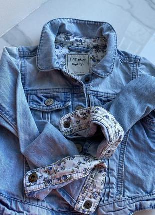 Куртка джинсовая на кнопках,курточка джинсовая 3/4г next
