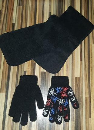 Набор перчатки и шарф, аксессуары