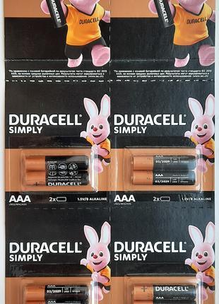 Батарейка Duracell щелочные AAA (LR03) и AA (LR06)