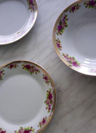 Сервиз столовый обеденный, набор тарелок 18 штук (новый)