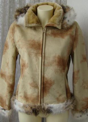 Дубленка женская искусственная модная теплая капюшон бренд pas...