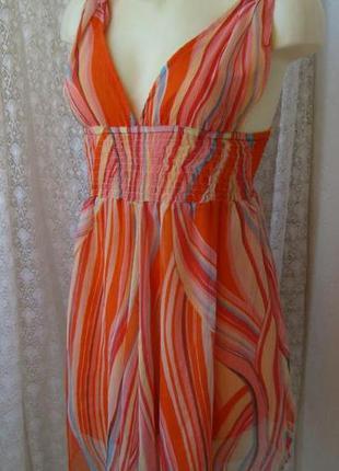 Платье женское летнее мини сарафан легкий бренд influence р.44...