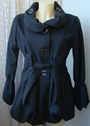 Пальто женское легкое демисезонное акрил шерсть италия р.46 №5...
