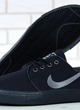 Мужские стильные кроссовки найк nike stefan janoski black