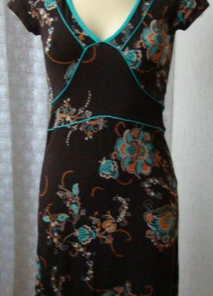Платье женское легкое летнее вискоза стрейч мини р.42 №5543а