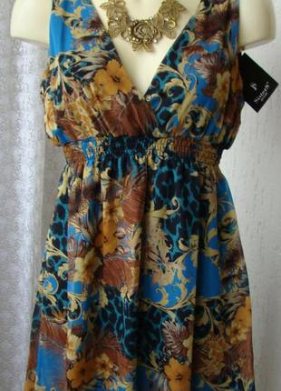 Платье женское летнее яркое легкое мини бренд sisters point р....