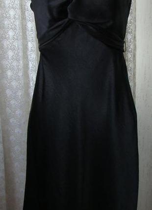 Платье черное элегантное миди бренд face р.44-46 №6343