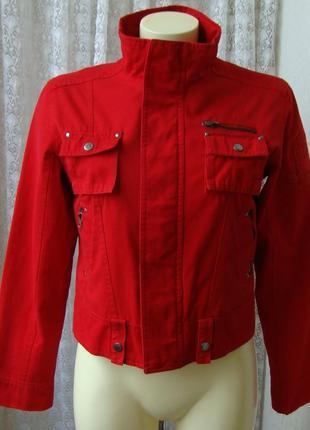 Куртка модная красная весна xdf р.42-44 №6567 23пв