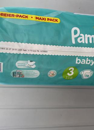 Pampers baby-dry 3 116шт