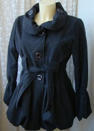 Пальто женское легкое демисезонное акрил шерсть италия р.46 №5021