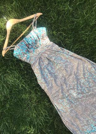 Длинный летний сарафан платье