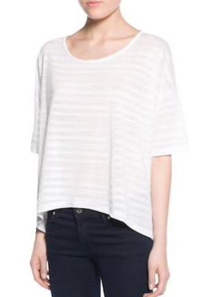 Белая полупрозрачная футболка mango oversize / l
