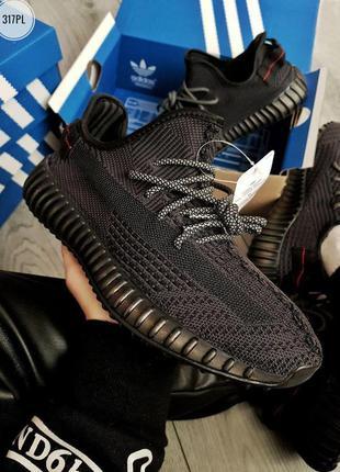 Adidas yeezy boost 350 v2 black🔺мужские кроссовки адидас черны...