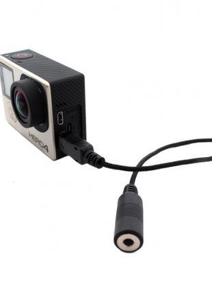 Адаптер-переходник 10 пин с чипом для GoPro микрофона Угловой