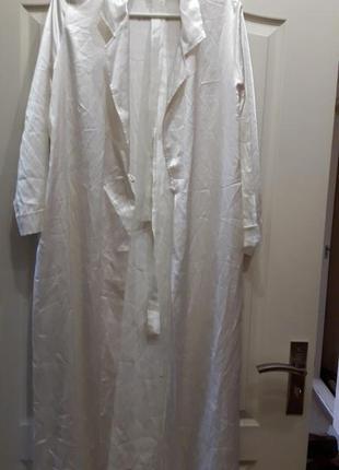 Атласный халат в пол с поясом! бренд marks& spenser! отличного...