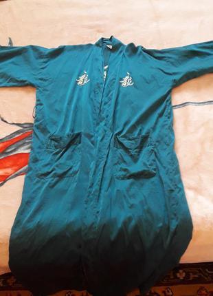 """Длинный халат из натурального шелка от бренда """"рaul schrader &..."""